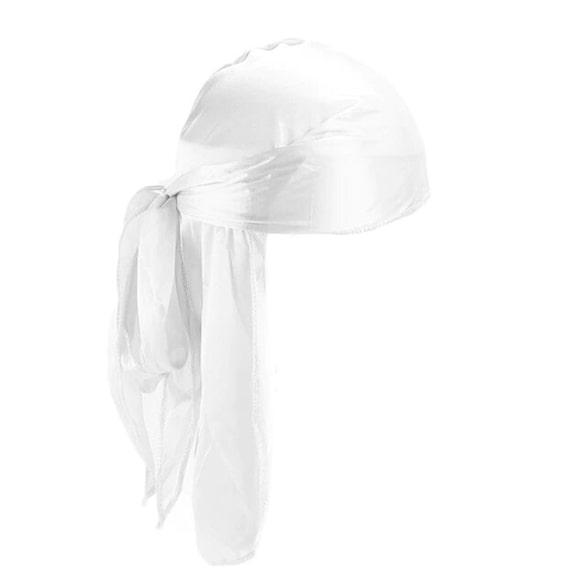 durag blanc en soie