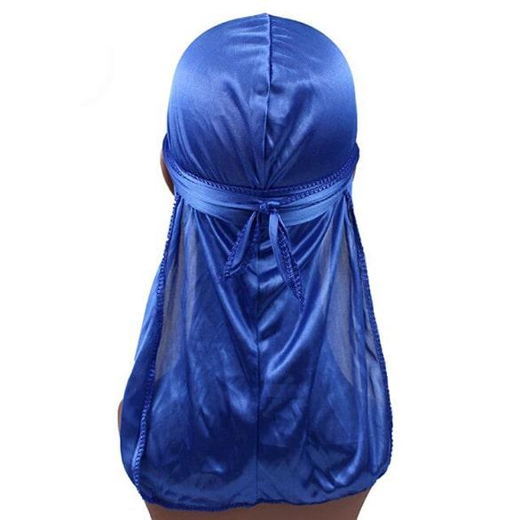 durag en satin bleu royal