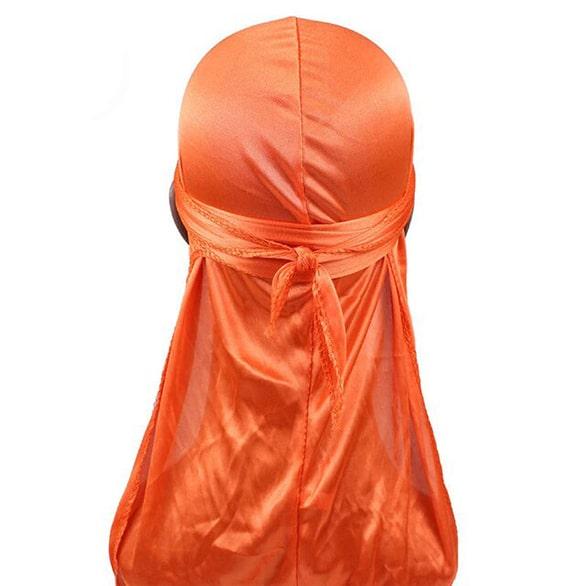 durag en satin orange