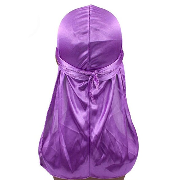 durag en satin violet