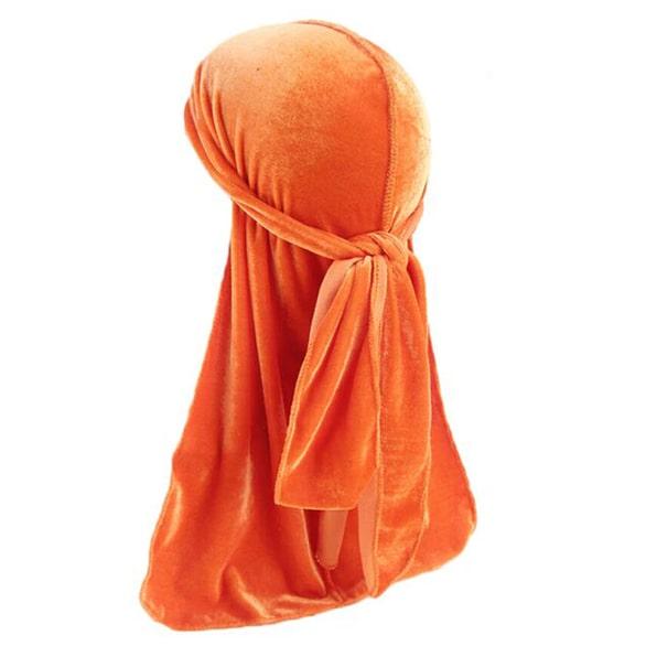durag en velours orange