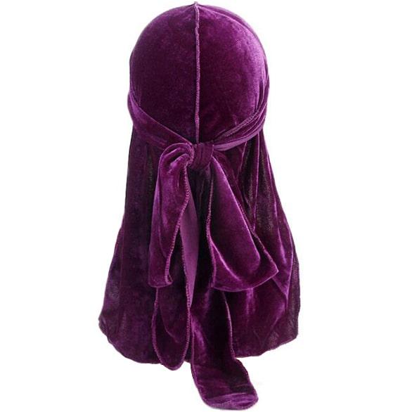 durag en velours violet
