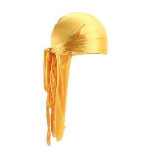 durag jaune en soie